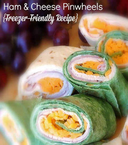 Ham & Cheese Pinwheels - Freezer Friendly