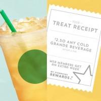 Starbucks Treat Receipt is back through August 9!