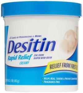 Desitin Diaper Rash Cream Rapid Relief, 16-Ounce Jar