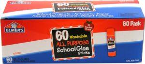Elmer's Washable All-Purpose School Glue Sticks, 0.24 Ounce Each, 60-Pack (E501)