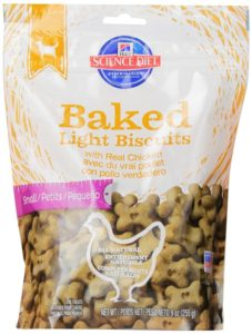 Hill's Science Diet Baked Light Biscuits with Real Chicken Dog Treats, 9-Ounce Pouch