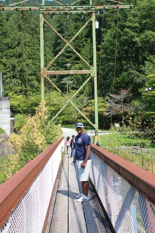 Suspension Bridge at the Gorge Dam, North Cascades National Park
