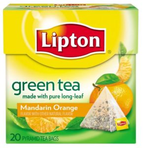 Lipton Green Tea Pyramids, Mandarin Orange 20 ct