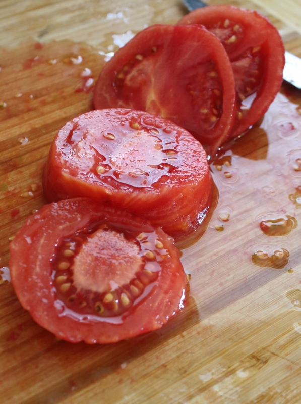 Slicing up Tomatoes for Spaghetti Sauce