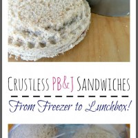 Crustless PB & J Sandwiches – Freezer to Lunch Box