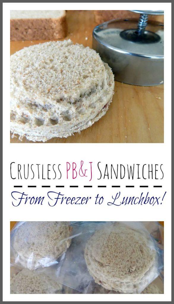 Crustless PB&J Sandwiches