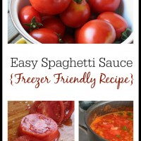 How to Make Spaghetti Sauce from Fresh Tomatoes (Freezer Friendly Recipe)
