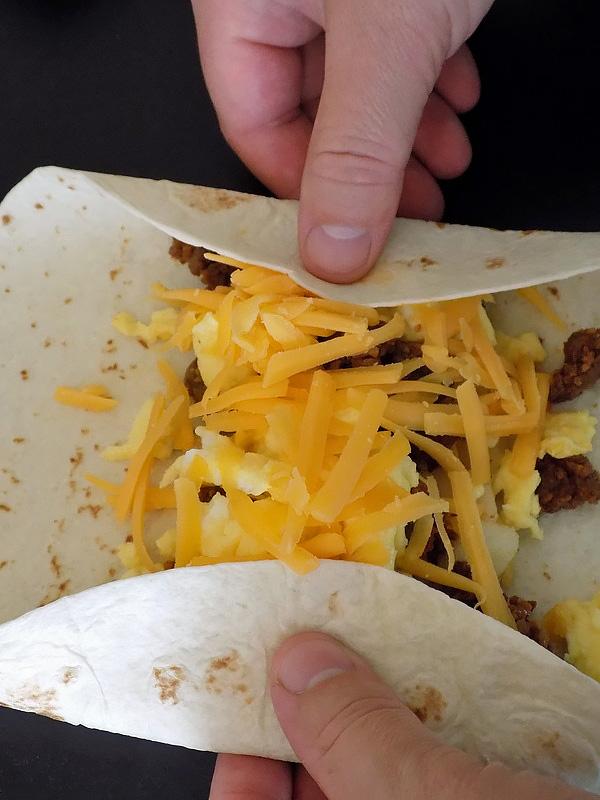 Folding Breakfast Burritos