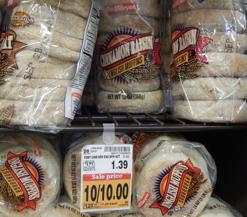 English Muffins at Fred Meyer