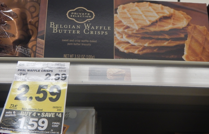 Private Selection Belgian Waffle Butter Crisps