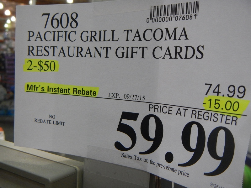 Pacific Grill Gift Card Deal