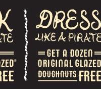 Krispy Kreme: FREE Doughnuts on Talk Like a Pirate Day (September 19th)