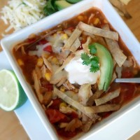 Chicken Tortilla Soup {Freezer-to-Slow Cooker Recipe}
