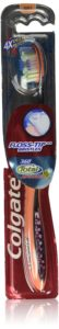 Colgate 360 Total Advanced Floss-Tip Bristle Toothbrush, Full Head Soft