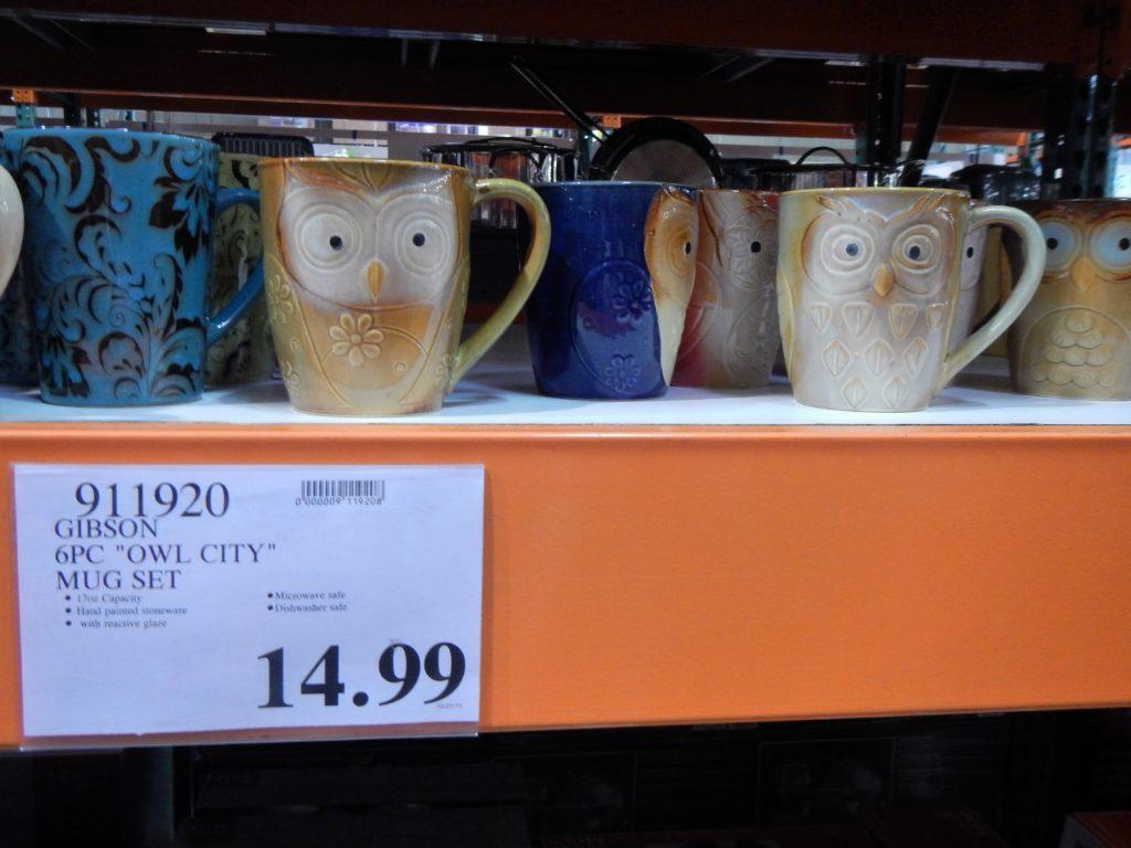 Owl mugs at Costco