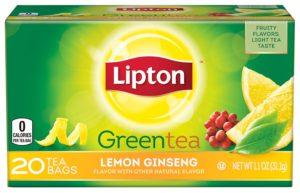 Lipton Green Tea, Lemon Ginseng 20 ct