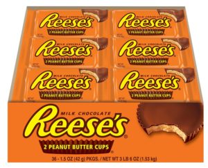 Reese's Peanut Butter Cups, 1.5-Ounce Packages (Pack of 36)