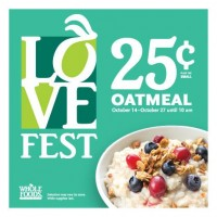 Whole Foods Market: $0.25 Oatmeal & Coffee this Month!