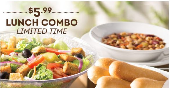 Olive Garden Lunch Menu Coupons