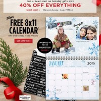 Shutterfly: FREE 8×11 Wall Calendar (great Christmas gift!)