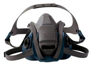 3M 6502QL Rugged Comfort Quick Latch Half Facepiece Reusable Respirator, Medium