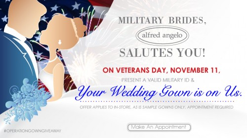 5e7cf76aa14 FREE Wedding Dresses for Military Brides