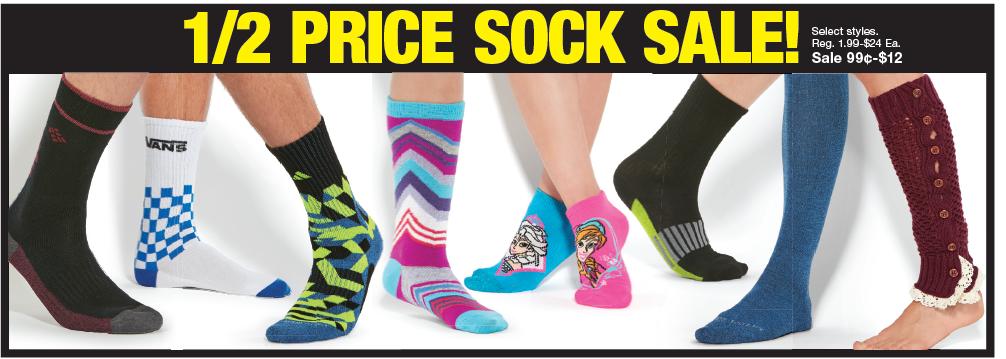 Black Friday- Half Price Socks