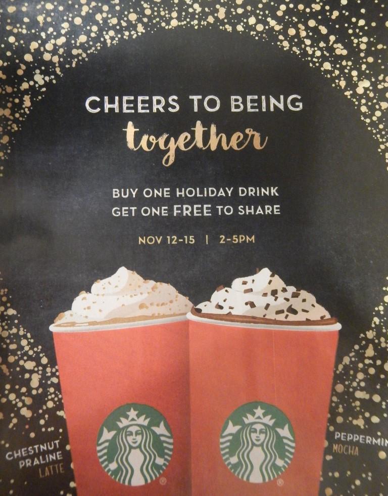 Starbucks Holiday Drink Promotion