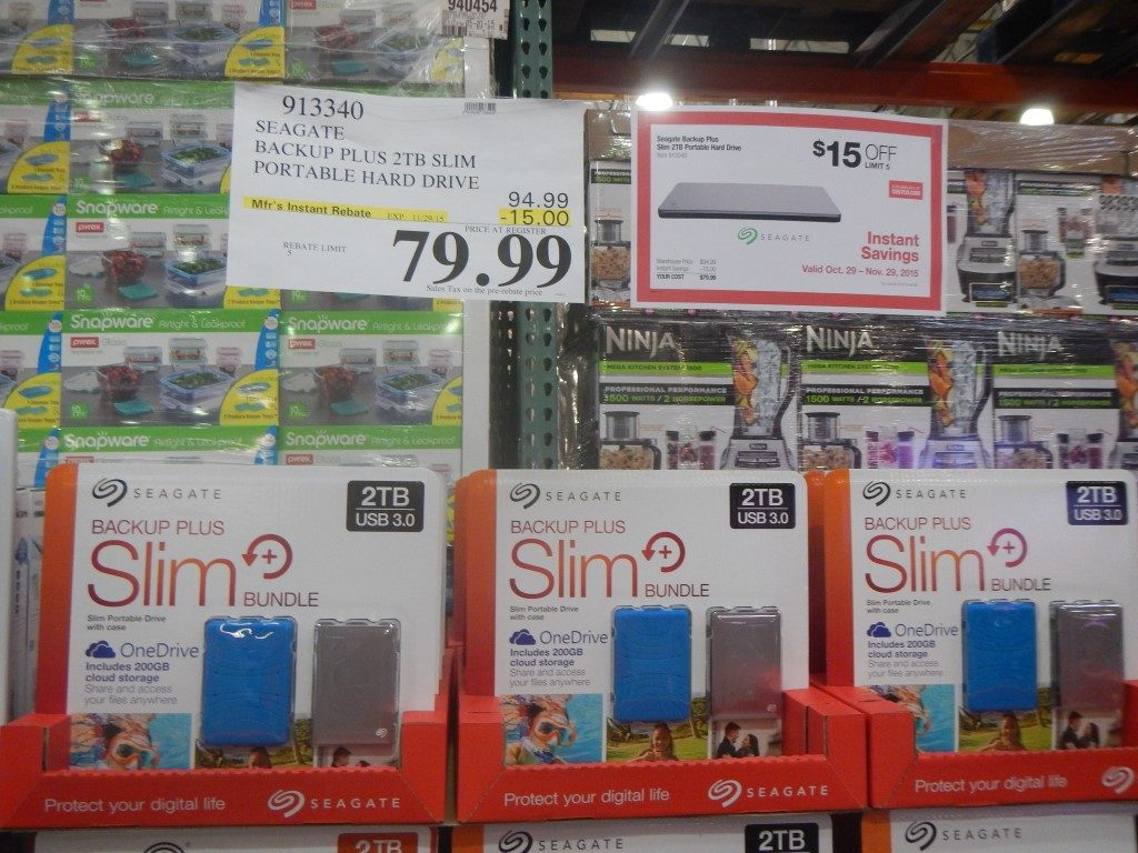 Seagate Hard Drive at Costco
