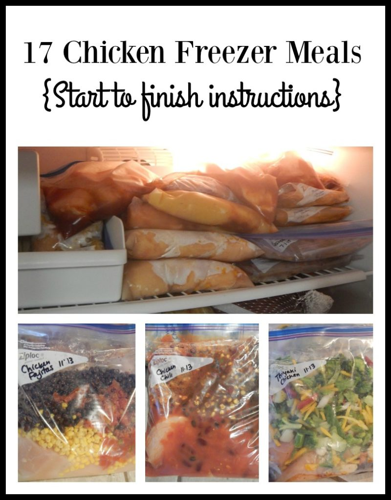 17 Chicken Freezer Meals {start to finish instructions}