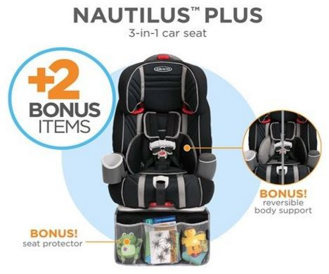 hot graco nautilus plus 3 in 1 car seat my fave for shipped. Black Bedroom Furniture Sets. Home Design Ideas