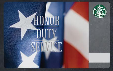starbucks veterans day gift card