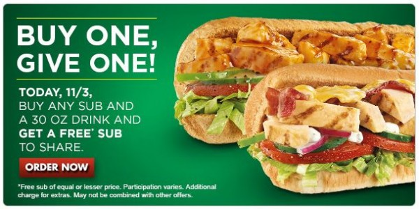 bogo subway coupon