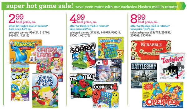 Board Games Toys R Us : Toys r us hasbro game rebate board games as low