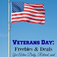 Veterans Day: Freebies & Deals (for Active Duty, Retired & Reserve Military)