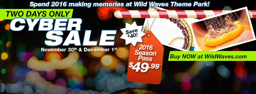 Wild Waves Cyber Monday
