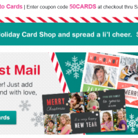 Walgreens: 50% off Photo Cards + FREE Store Pick-up (12/12 only)