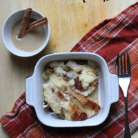 Pear Bread Pudding with Cinnamon Rum Sauce Recipe
