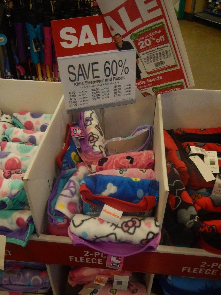 Sleepwear Sale at Fred Meyer