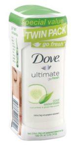Dove go fresh Anti-Perspirant Deodorant, Cool Essentials Cucumber &Green Tea, 2.6 oz, Twin Pack - Copy