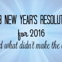 My 3 New Year's Resolutions