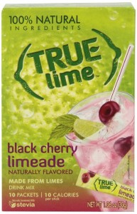 True Lime Limeade Stick Pack, Black Cherry, 10 Count (1.06oz)