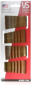 Vidal Sassoon Bobby Pins, Brown, 60 Count
