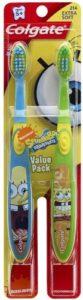Colgate Kids Twin Pack Toothbrush, Spongebob