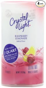 Crystal Light Raspberry Lemonade Drink Mix (Makes 8-Quarts), 1.2-Ounce Canisters (Pack of 4)