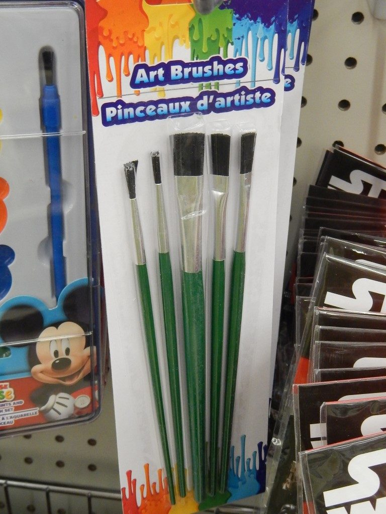 Artbrushes at the Dollar Tree