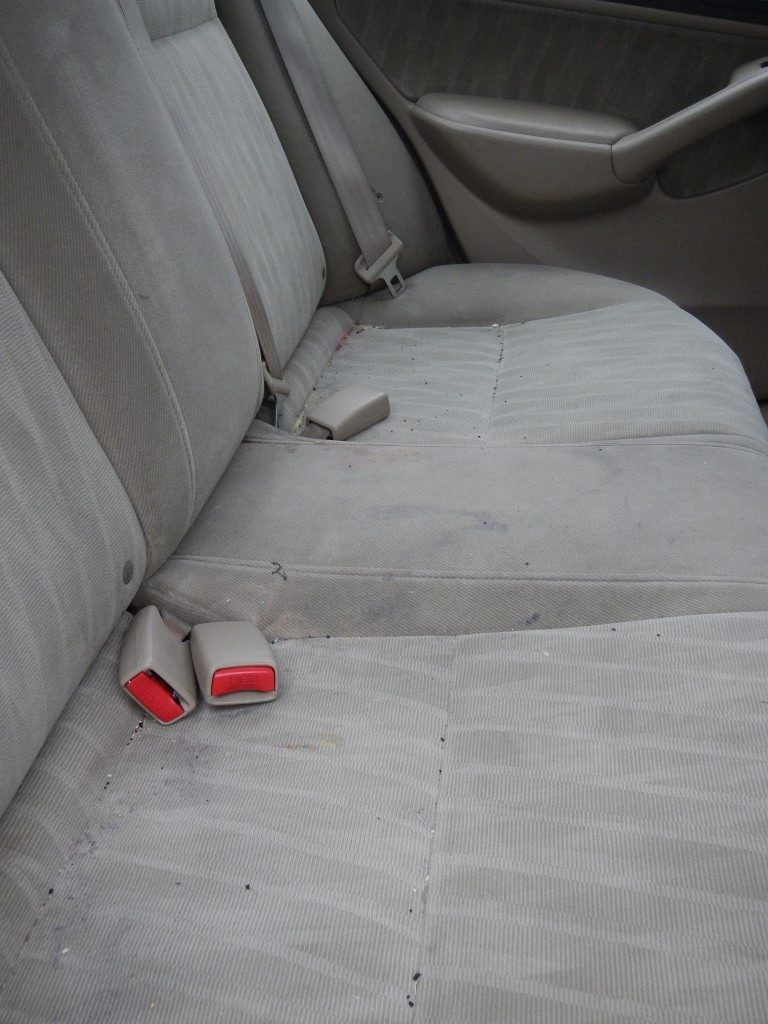 Messy Car Upholstery