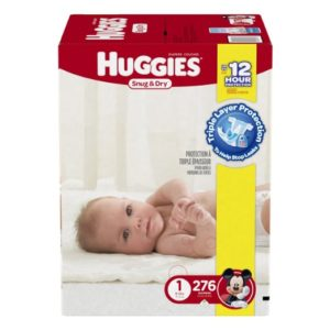 Huggies Snug and Dry Diapers, Size 1, Economy Plus Pack, 276 Count