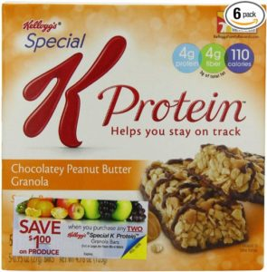 Kellogg's Special K Granola Bar, Chocolate and Peanut Butter, 4.76-Ounce (Pack of 6)