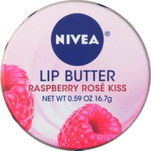 NIVEA Lip Butter Loose Tin, Raspberry Rose Kiss, 0.59 Ounce